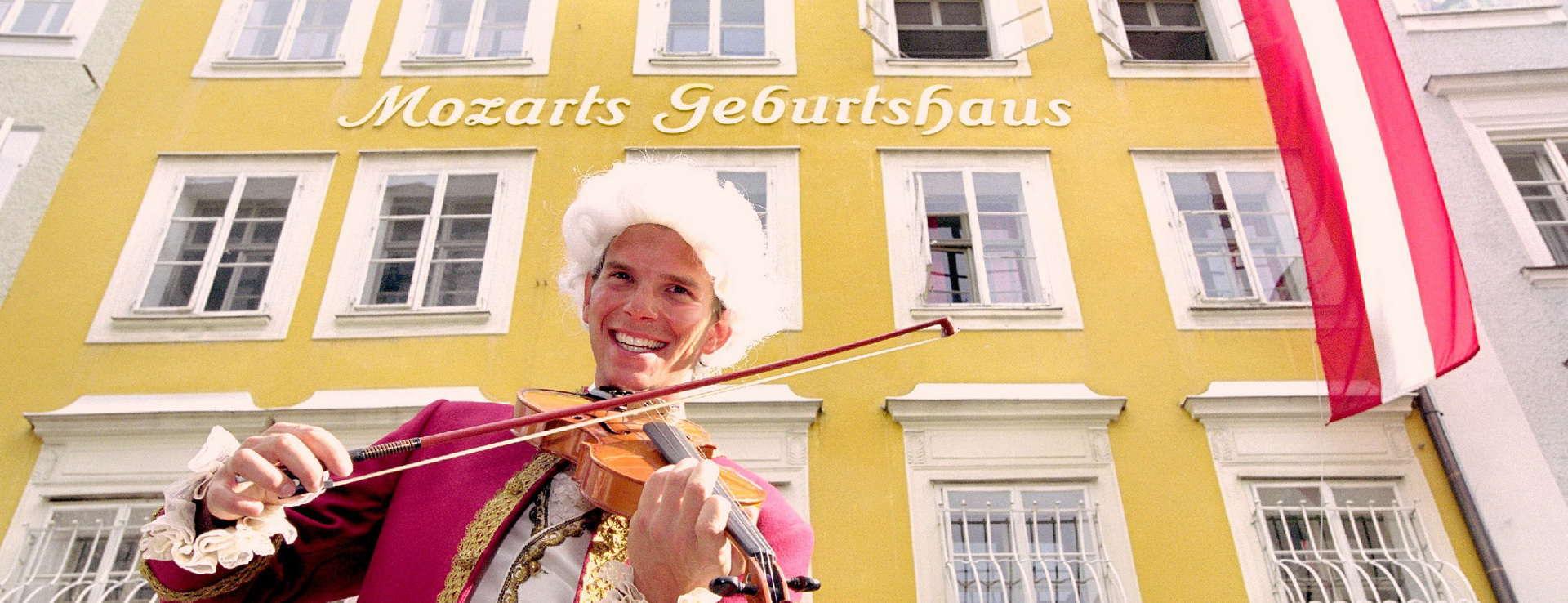 Mitt i Salzburg - Huset Mozart föddes i