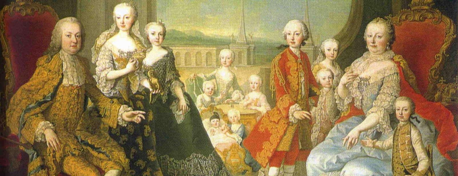 Habsburger i Wien Franz I. Stephan und Maria Theresia Semester i Wien Österrike