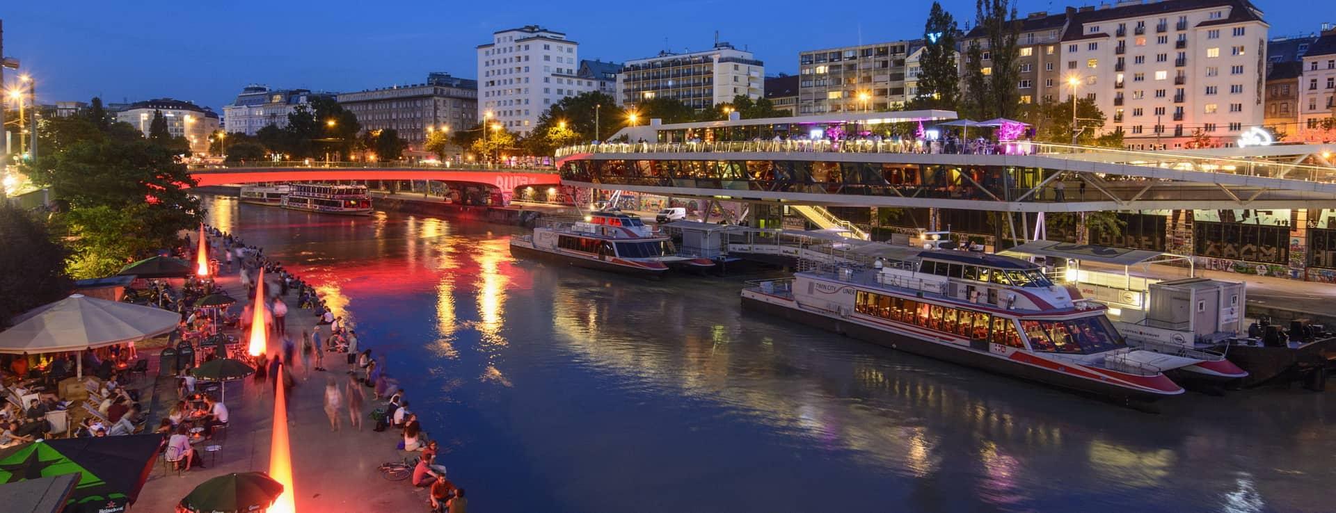 Wien Donaukanal Österrike Österreich