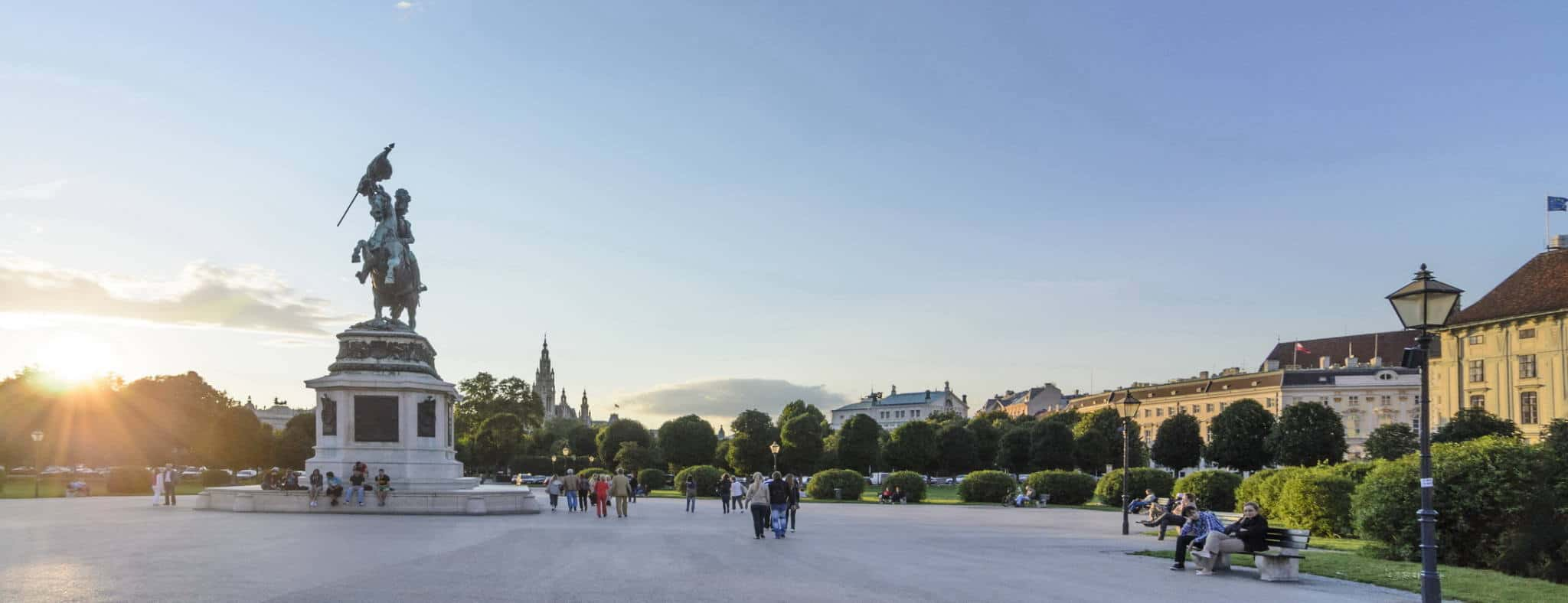 Heldenplatz i Wien Österreich Österrike