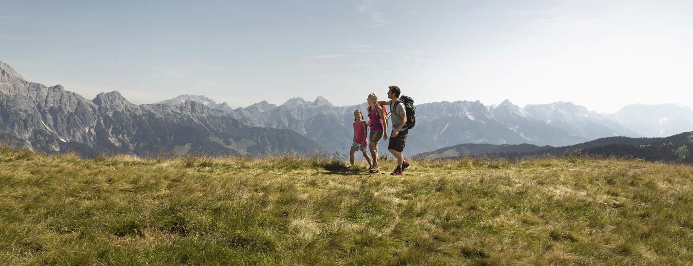 Vandring i Pinzgau vid Zell am See på Saalachtaler Rundweg