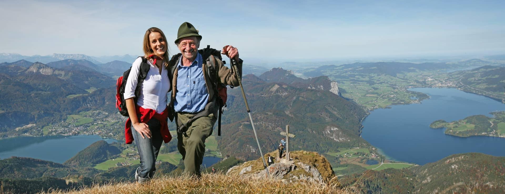Vy från Schafberg vandring semester i Österrike