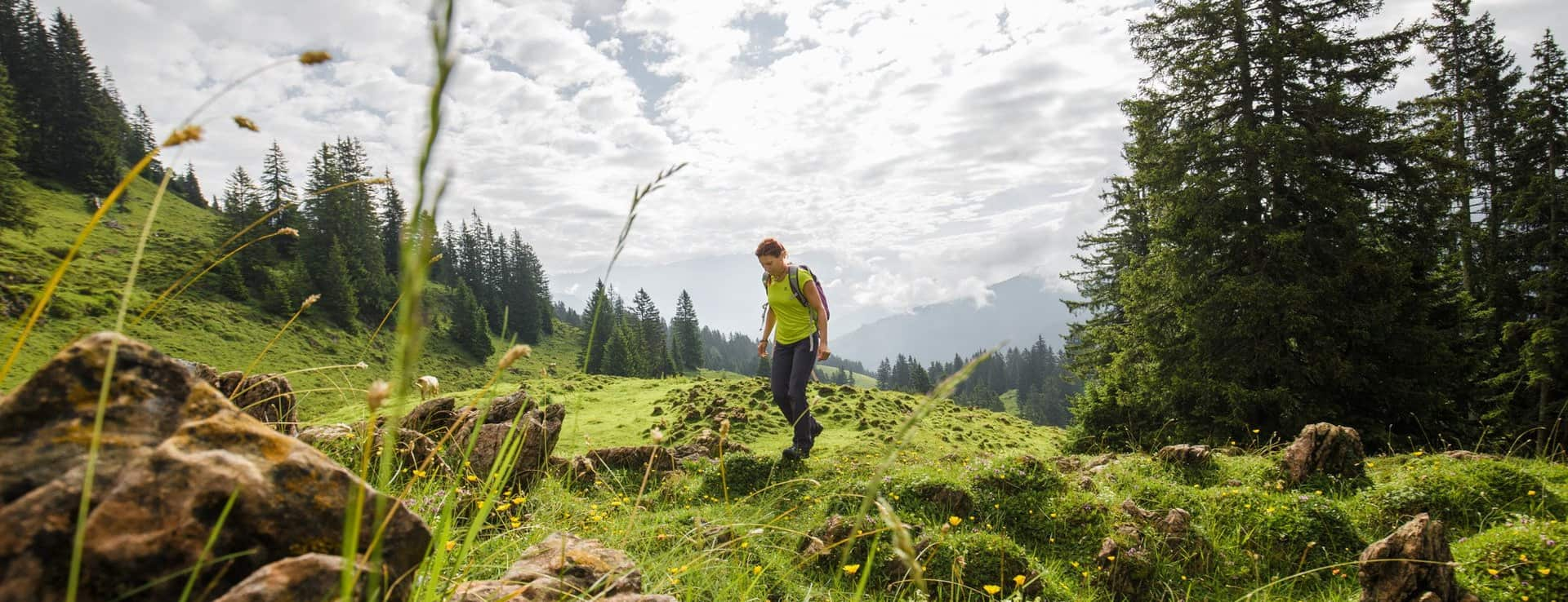 Saalfelden semester vandring i Österrike