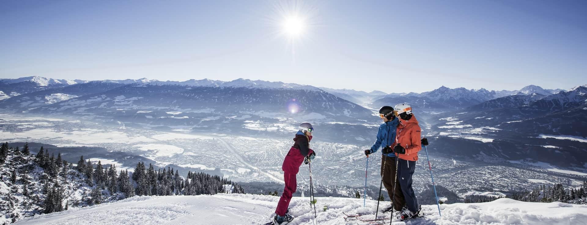 Skifahren auf der Nordkette Innsbruck