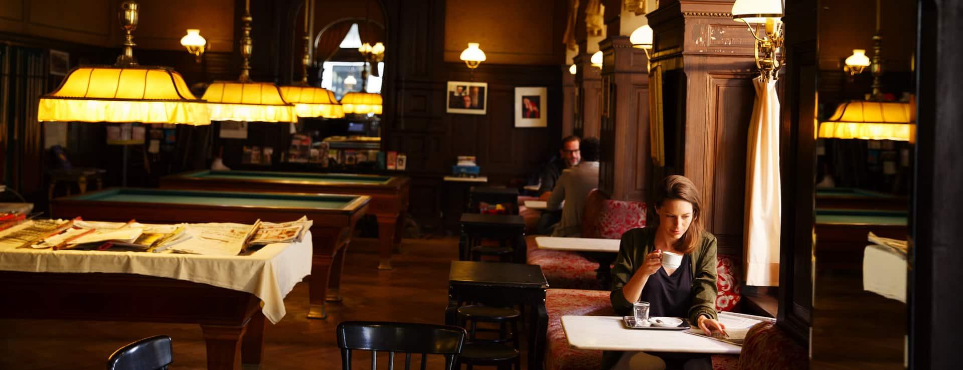 Fika på café Sperl i Wien Semester i Österrike