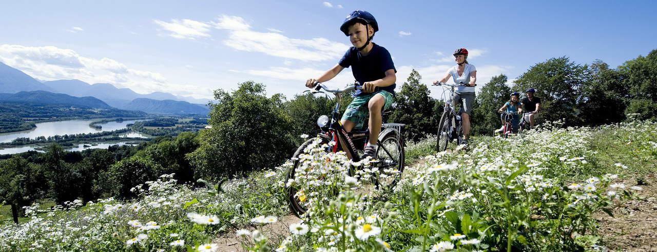 Cykla vid floden Drau Cykelsemester i Österrike
