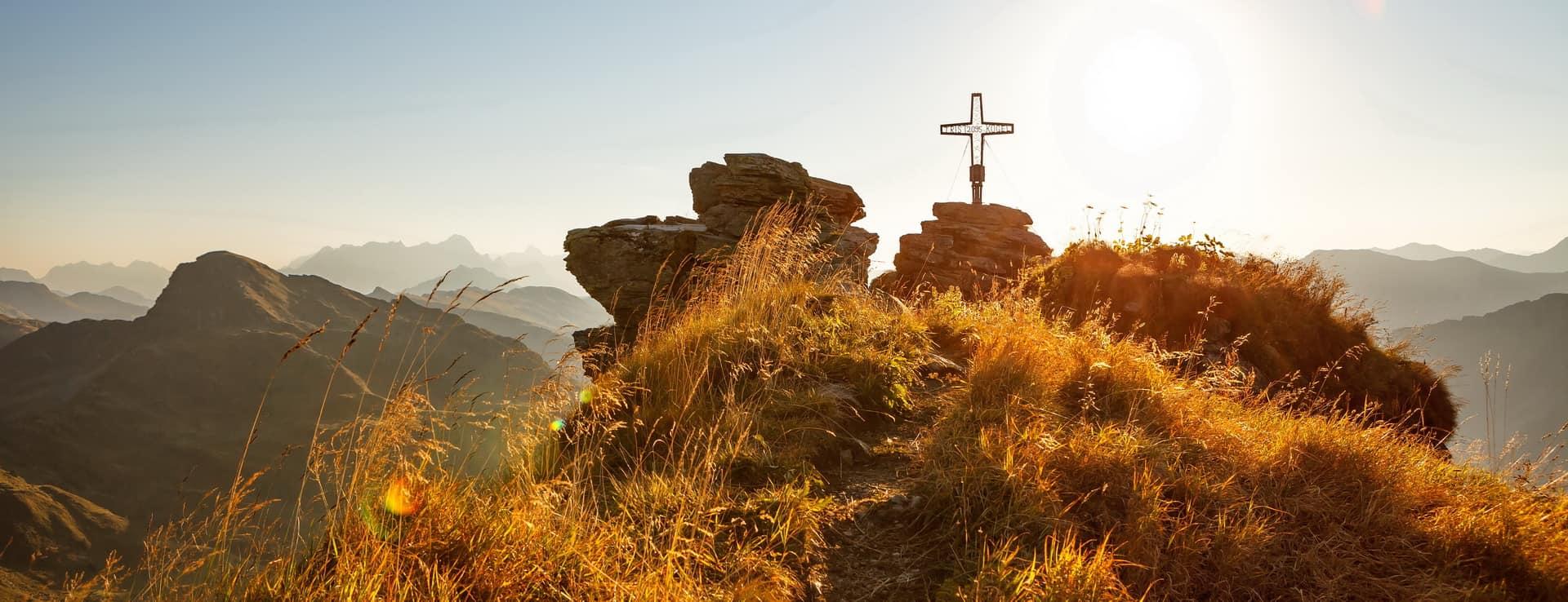Saalbach Gipfelkreuz Semester i Österrike