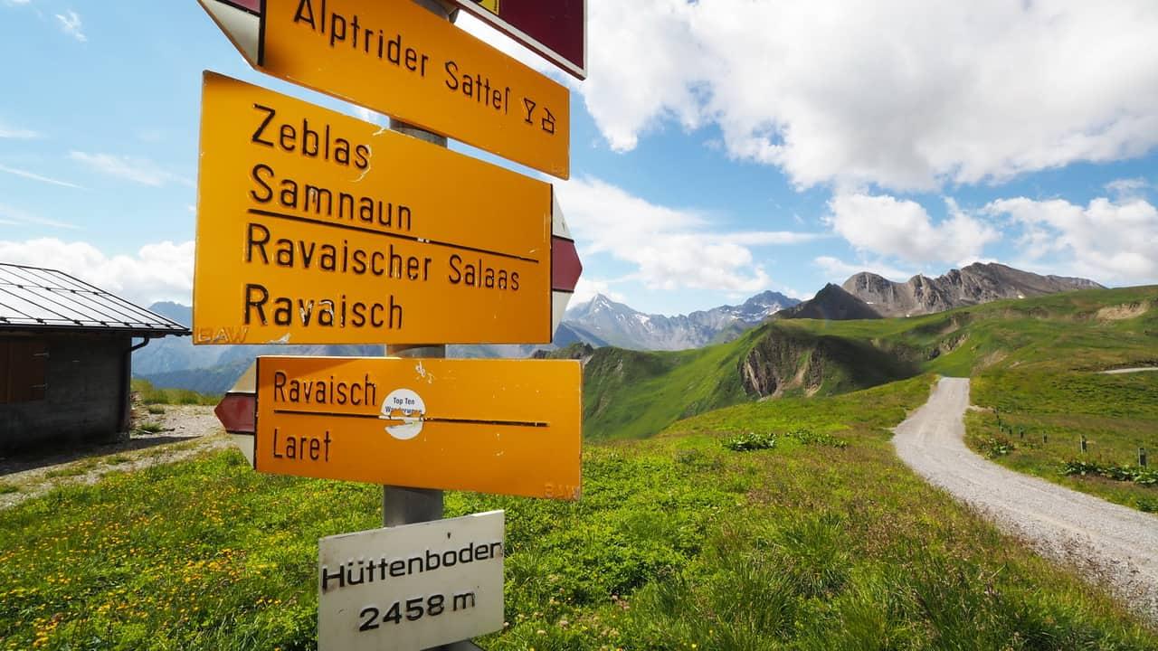 Ischgl Samnaun vandring Semester i Österrike