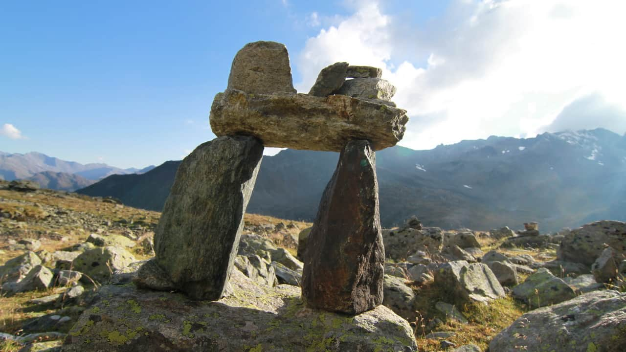 Ischgl Landschaft Steinformation Semester i Österrike