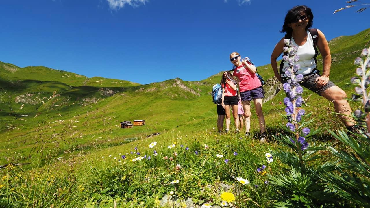 Vandring med guide i Ischgl - Tirol Semester i Österrike