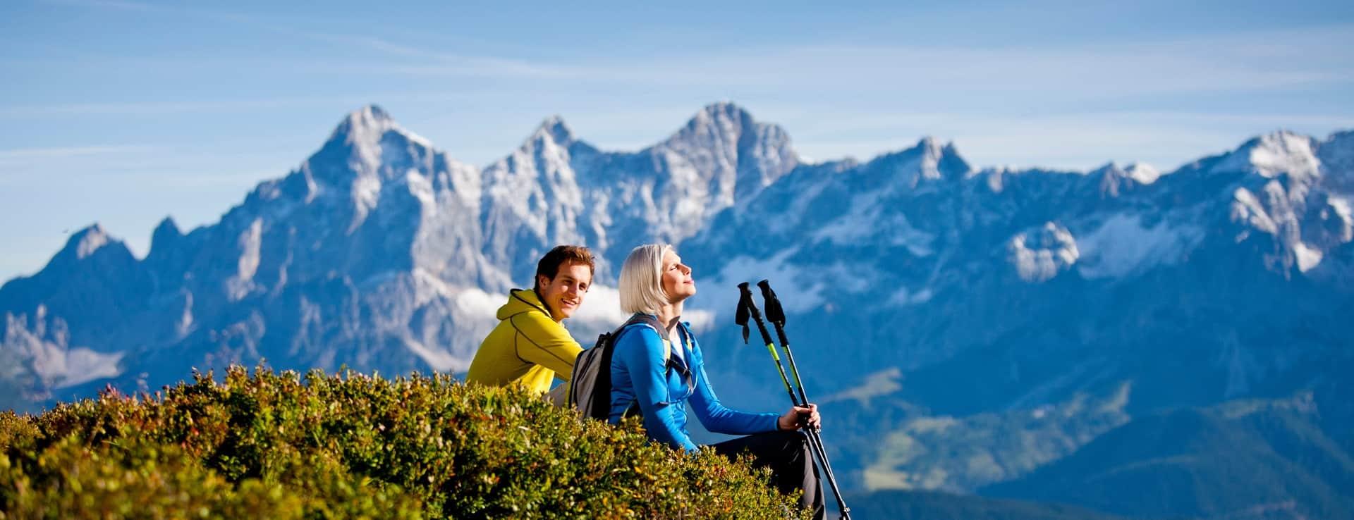 Dachstein Rundwanderweg Semester i Österrike Alperna Austria Travel