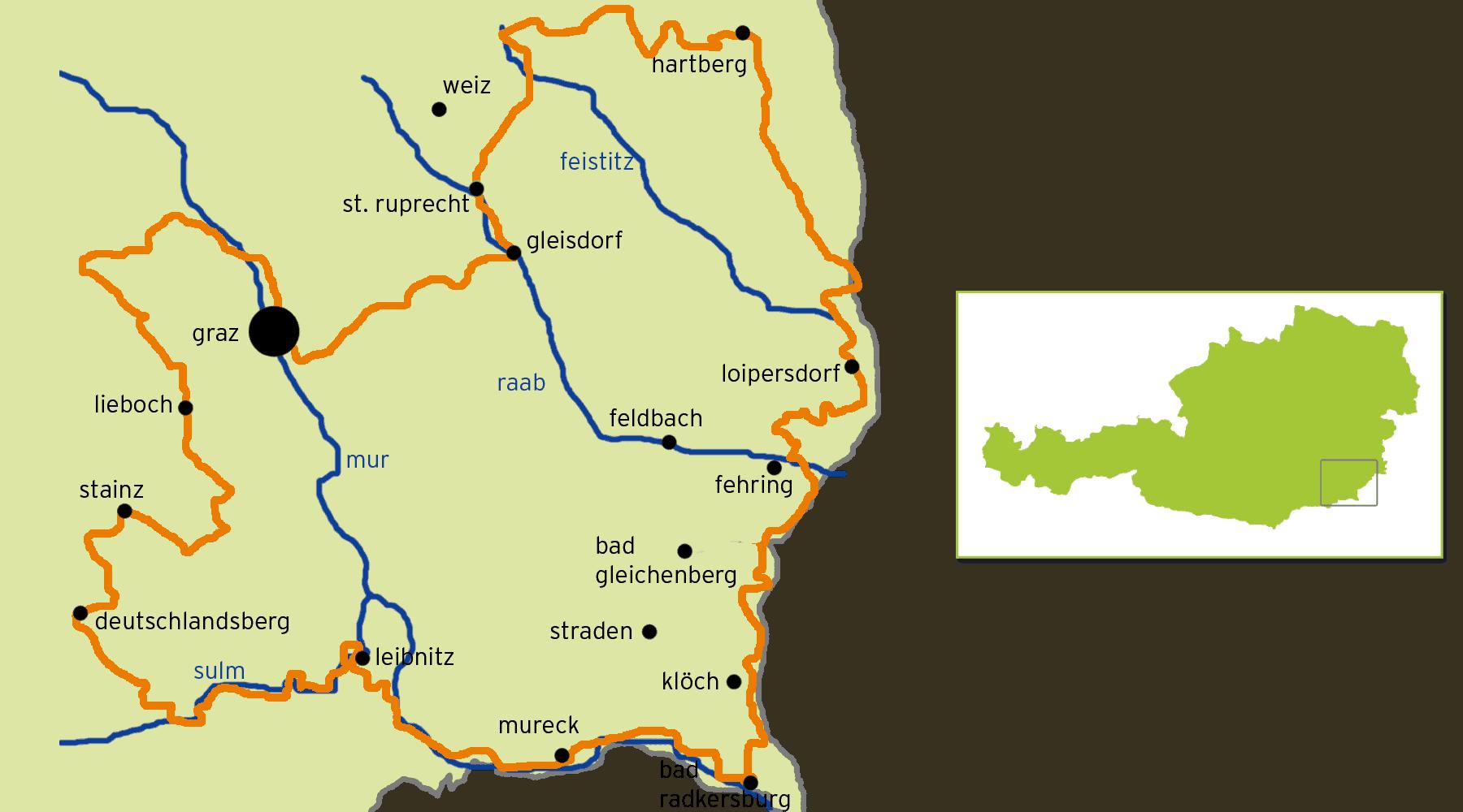 Cykeltur genom Österrikes Toscana - Weinland Steiermark