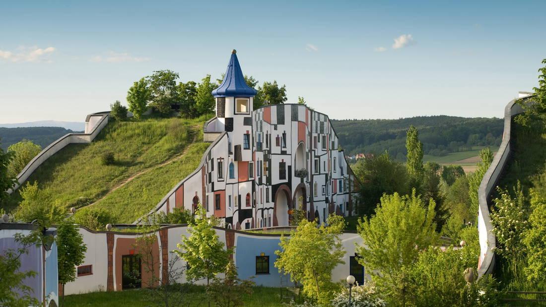 Thermenland Steiermark Rogner Bad Blumau Semester i Österrike