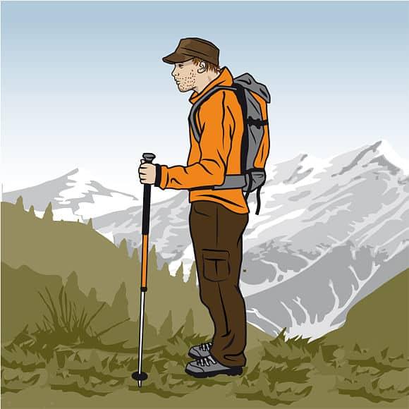 Rätt längd på vandringsstavarna - Vandra i Österrike med Austria Travel