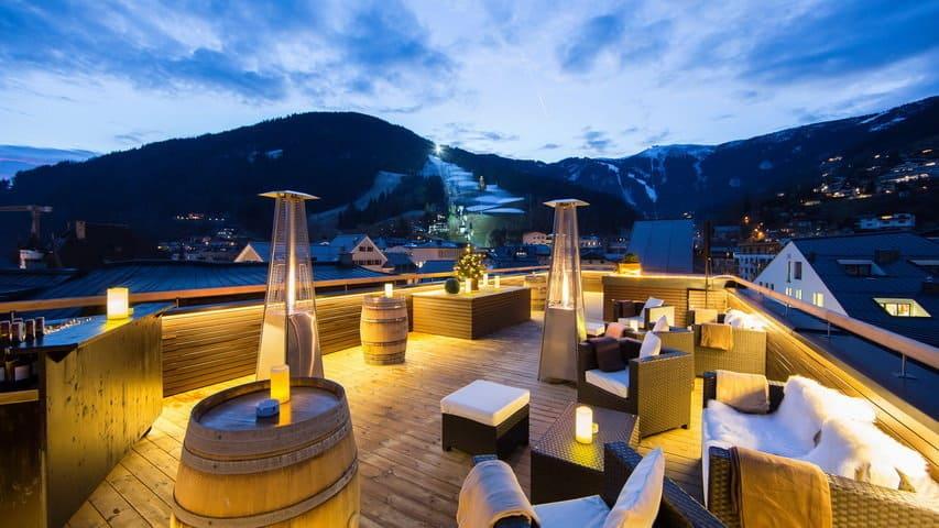 Skidsemester i Zell am See med Austria Travel - Hotel Heitzmann - Takterass