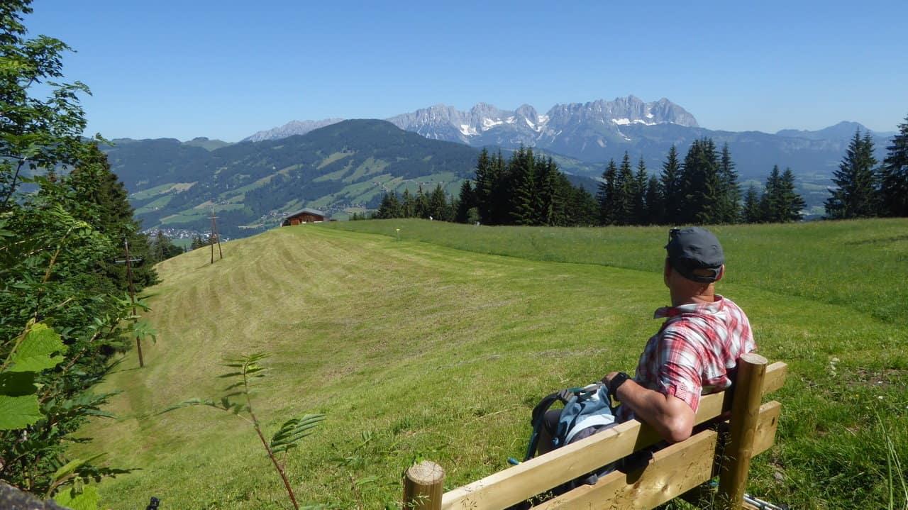 Paus med utsikt - Vandra till Kitzbühel © Austria Travel - Rusner