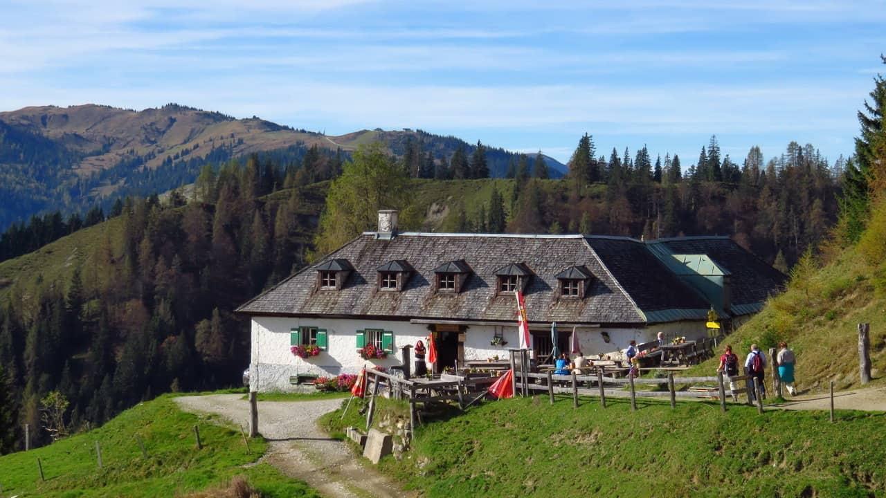 Vandra i Lungau Fäboden Riedingalm Österrike-Austria Travel