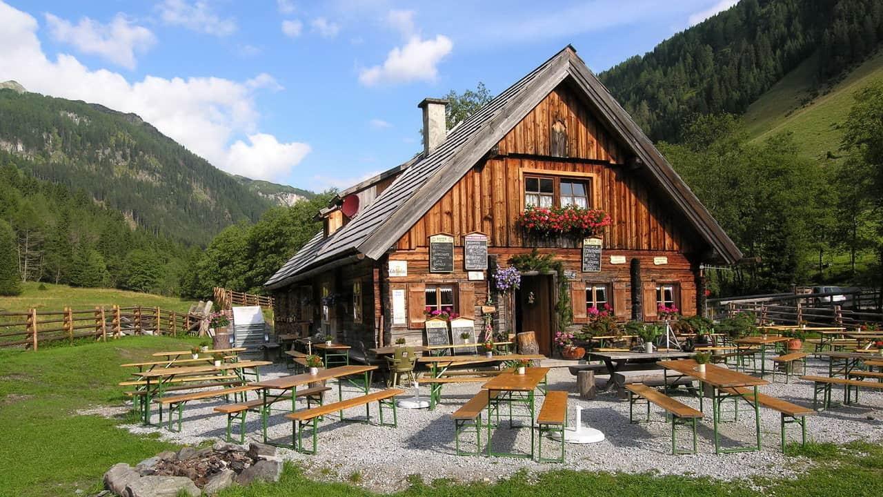Vandring till Granglerhütte Lungau Österrike-Austria Travel