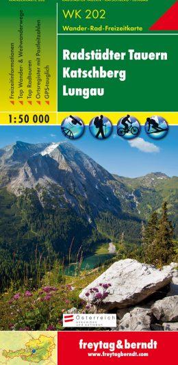 Vandra i Lungau karta Austria Travel
