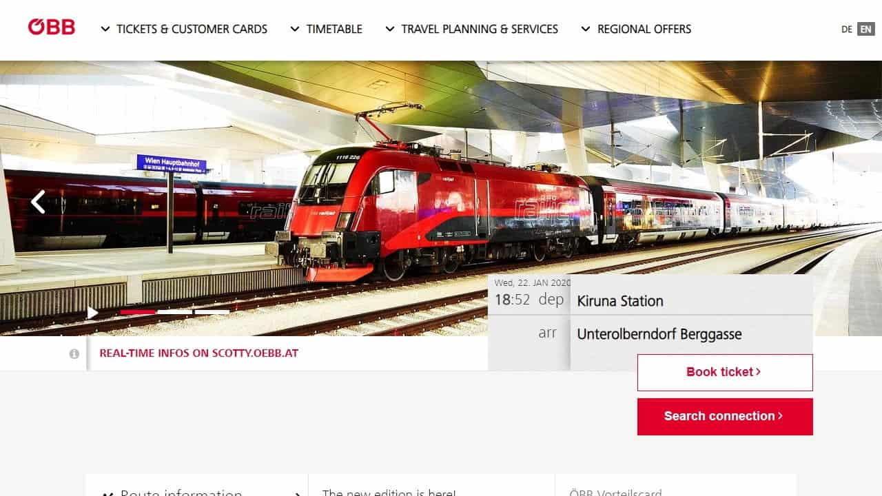 Tåg mellan Sverige och Österrike