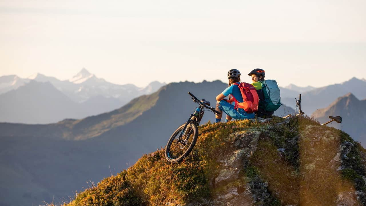 MTB utsikt Kitzbüheler Alpen Austria Travel