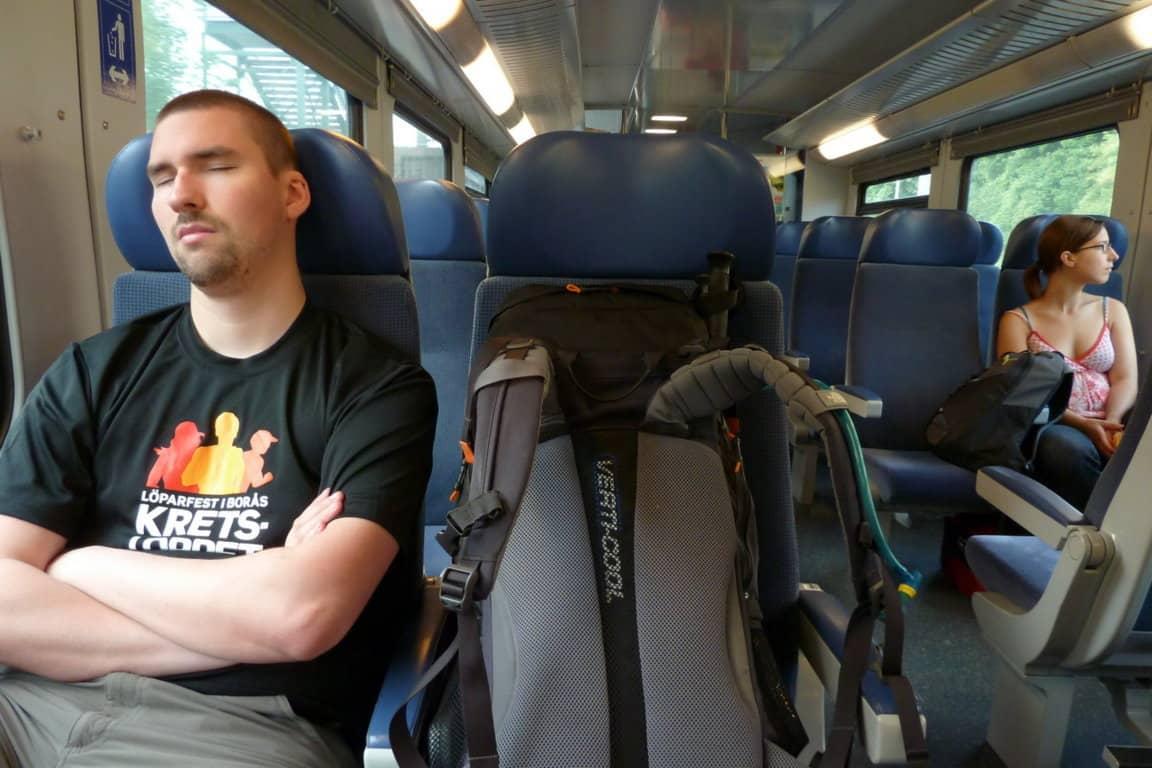 Tågresa till vandring i Österrike
