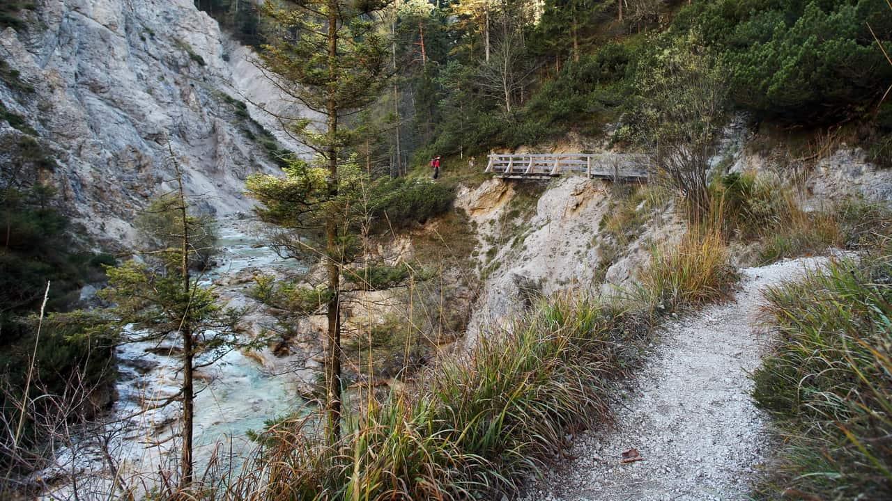 Vandra i Österrikes Grand Canyon Ötscher