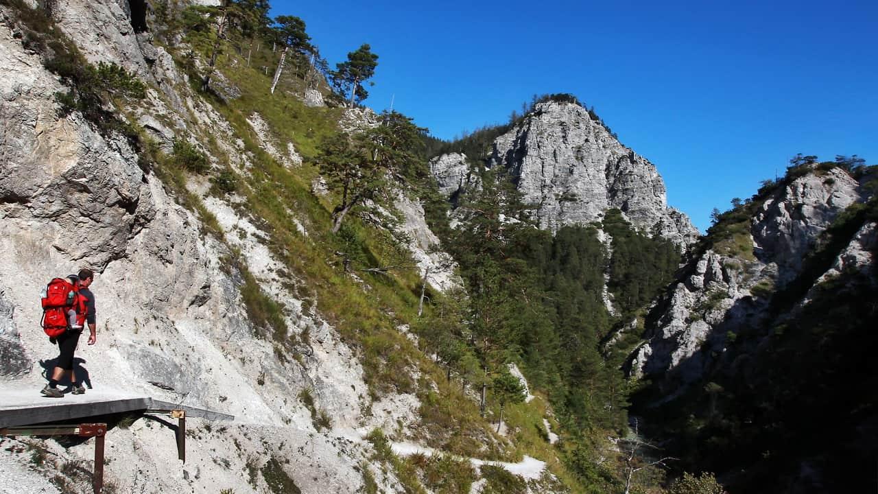 Vandra i Österrikes Grand Canyon Ötschergräben