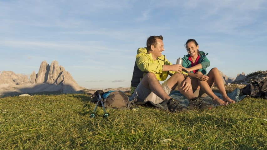 Vandring på Dolomiten Höhenweg i Italien