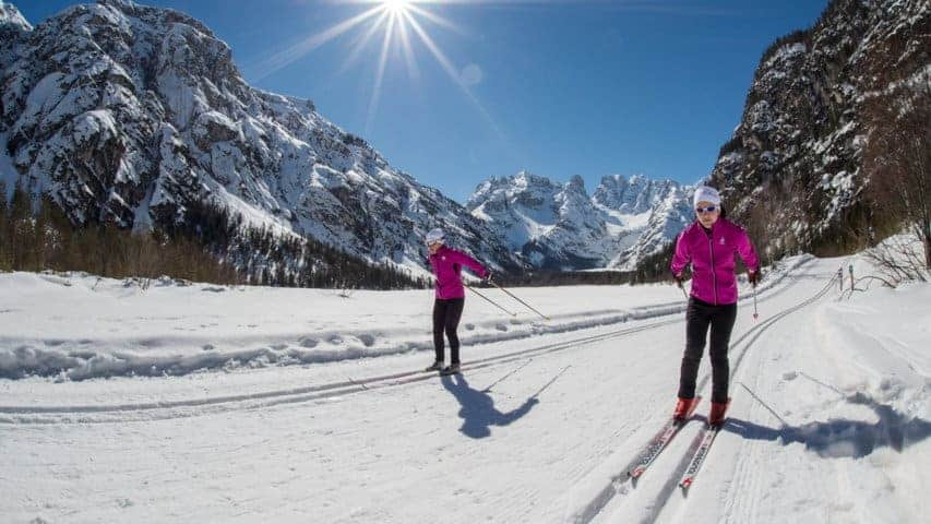 Längdskidåkning i Dolomiterna