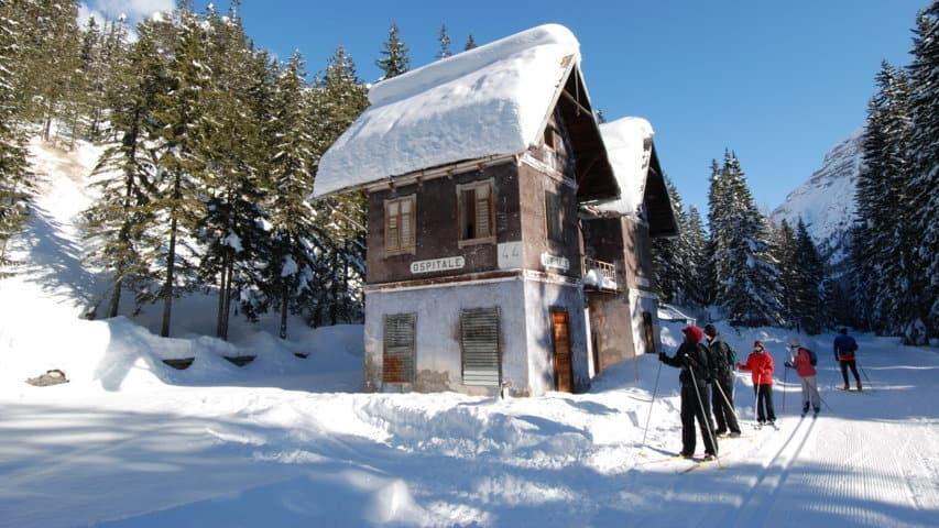 Längdskidåkning Toblach Cortina Dolomiterna