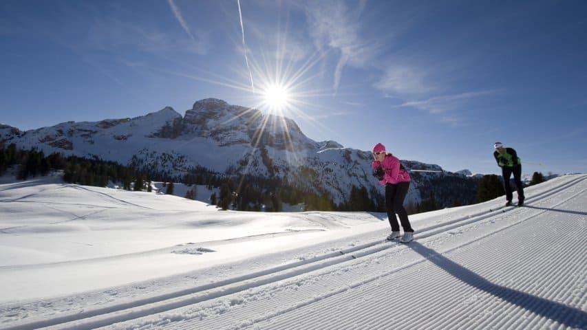 Längdåkning Hochpusterdal Dolomiterna