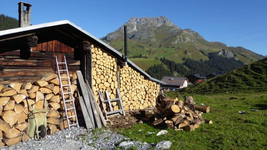 Hütte berg Lechweg