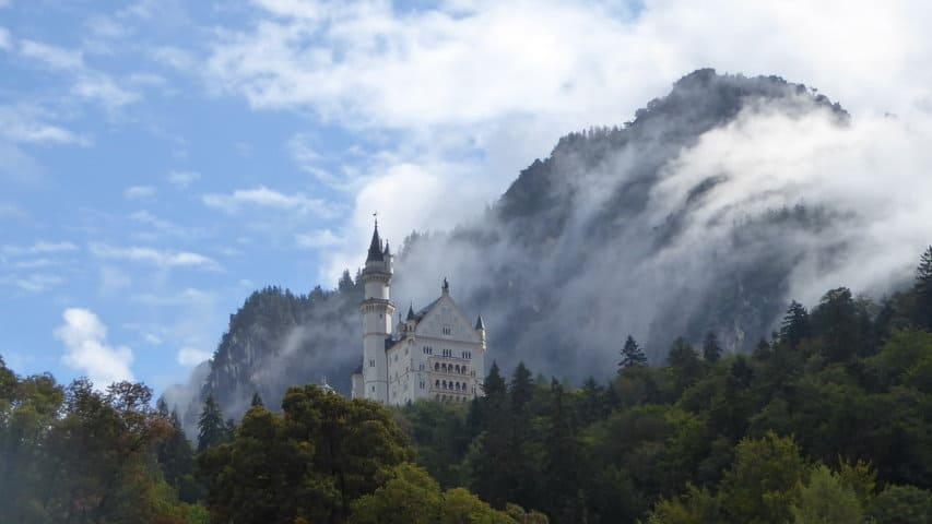 Sagoslottet Neuschwanstein vandring Lech
