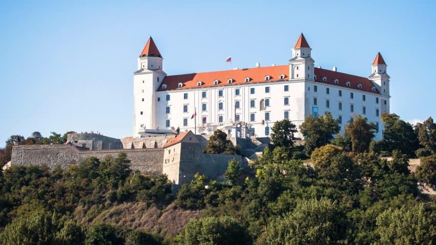 Fästningen cykling donau Bratislava