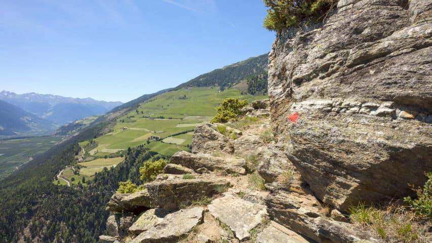 Utsikt vandring på egen hand Vinschgau