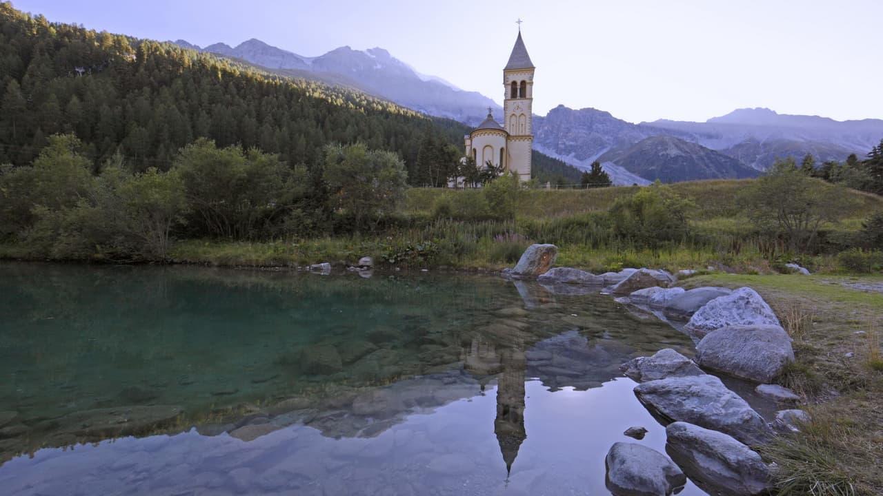 Kyrka Sulden Vinschgau vandring nationalpark Stilfserjoch