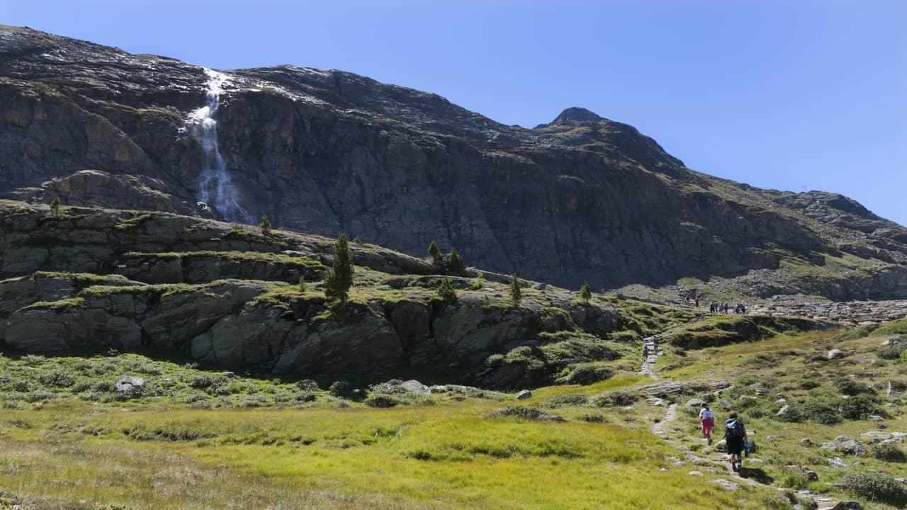 vandra i nationalparken Stelvio Stilfserjoch