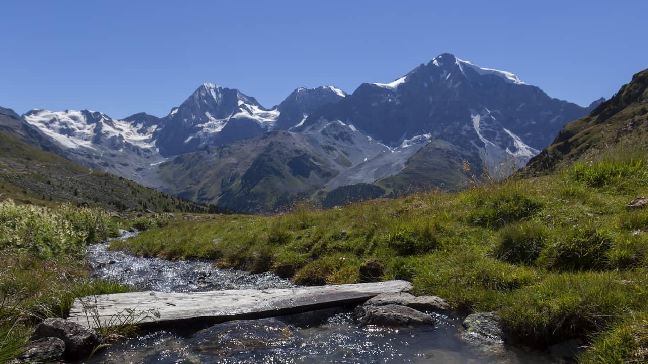 Vandra på egen hand Ortler nationalpark Stilfserjoch Stelvio