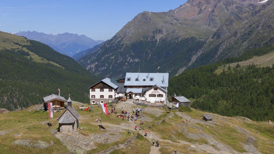 Vandring Zufallhütte nationalpark Stelvio Stilfserjoch