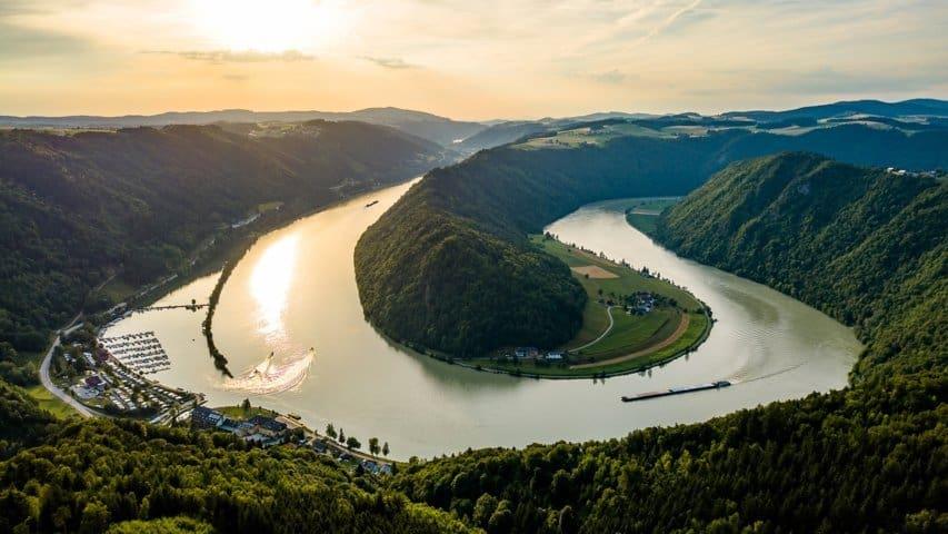 Donauschlinge vid Schlögen