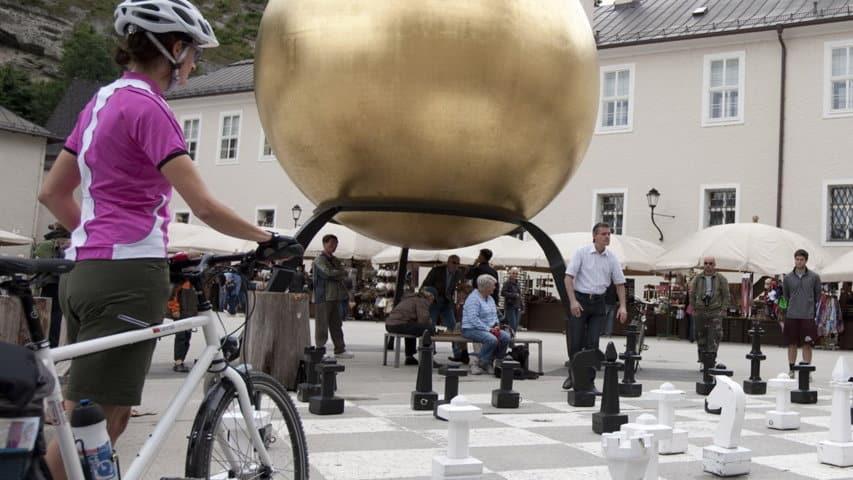 Cykling Salzburg Kapitelplatz