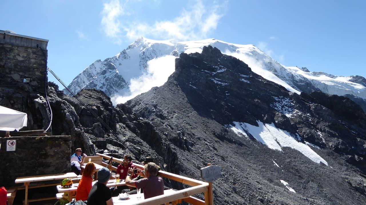 Payerhütte utsikt Ortler Sulden Hotel Paradies