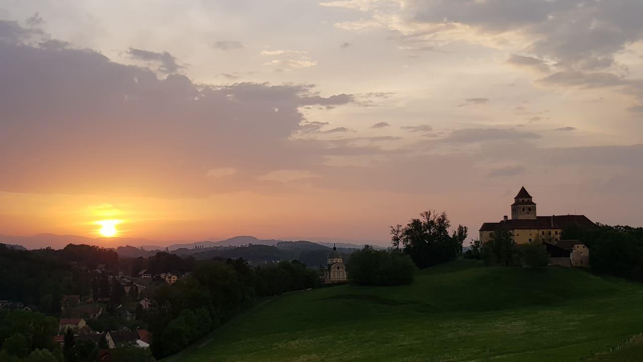 solnedgång cykla vinparadis Austria Travel