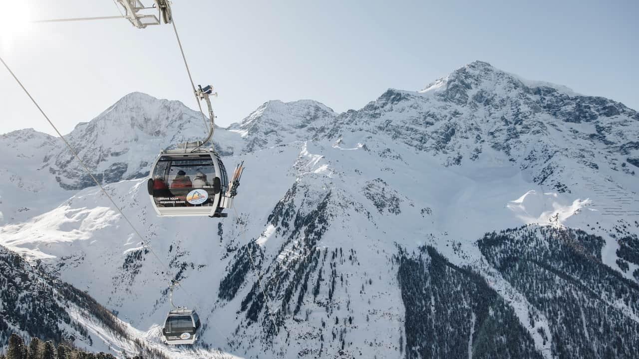 Kabinbana skidsemester hotel Paradies Sulden-Solda Italien